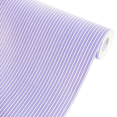 Violetish Blue Stripe - Vinyl Self-Adhesive Wallpaper Prepasted Wall Decor