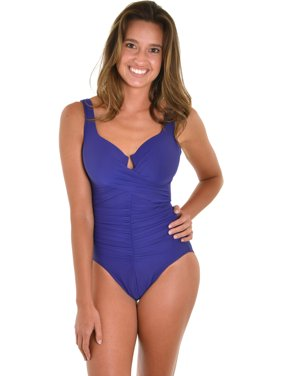 34f2f93348 Product Image Womens Miraclesuit 1 Piece Swim Suit Purple Eggplant Underwire  One Piece SwimSuit