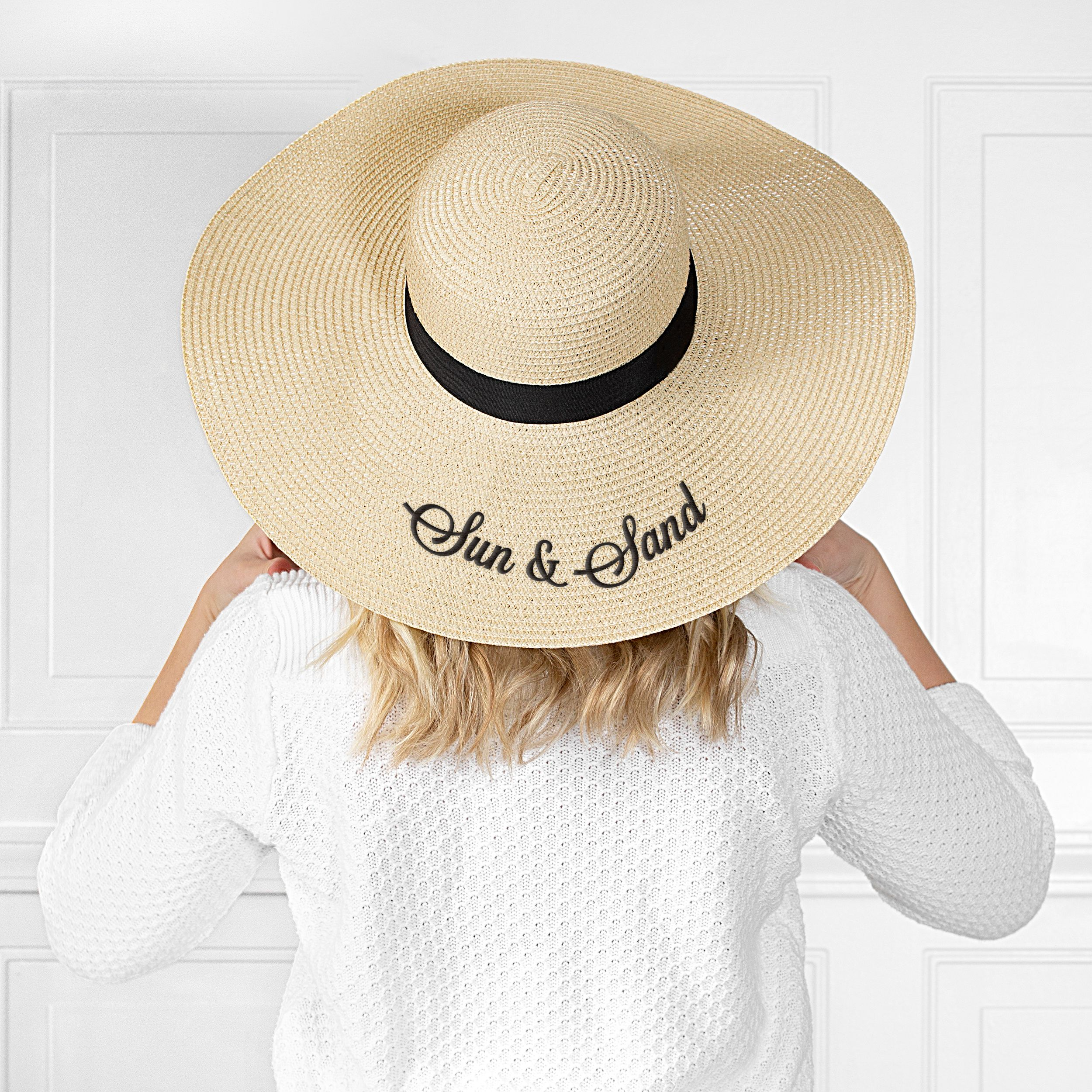 Personalized Natural Straw Sun Hat