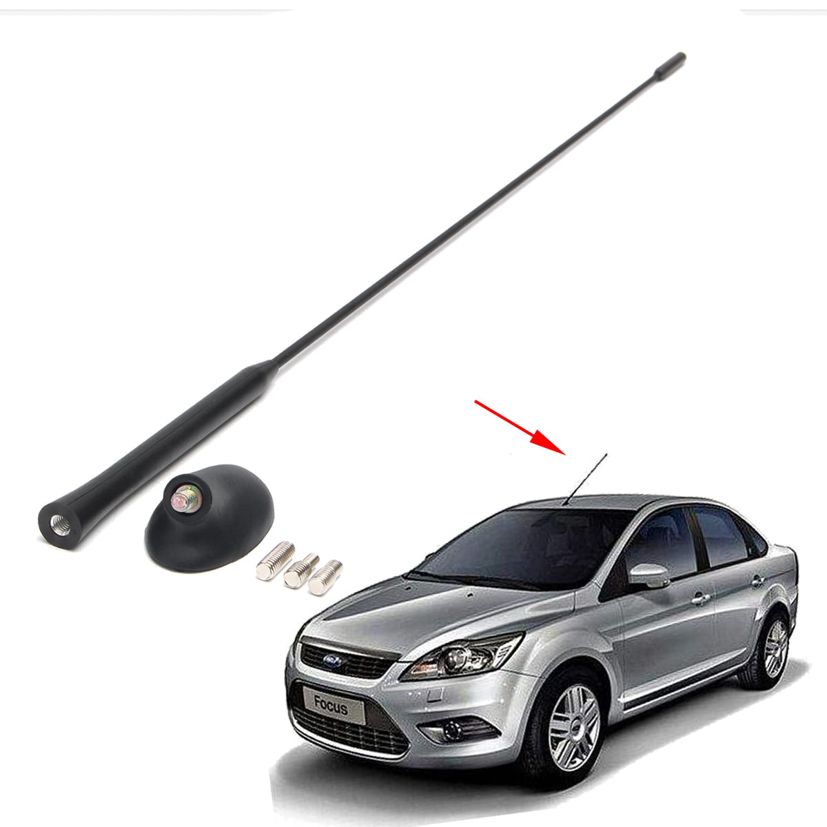 LCBIAO/® Car Radio Roof Mast Antenna Aerial AM//FM Base Automobiles Exterior Replacement Parts Fit For Ford Focus Models 2000-2007