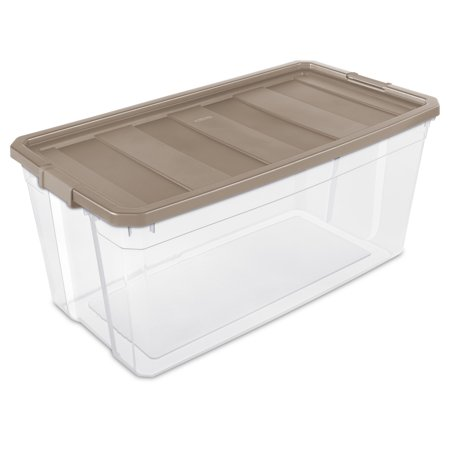 Sterilite, 200 Qt./189 L Stacker Box, Taupe Splash
