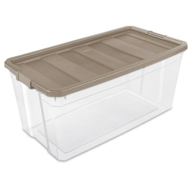 Sterilite Plastic 200 Qt Stacker Box, Large Storage Tote