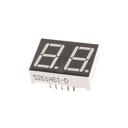 Common Cathode 7 Segment Led Display - Common Cathode 10 Pin 2 Bit 7 Segment 0.56