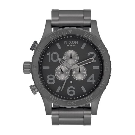 Gunmetal Hip Hop Watch (51-30 Chrono A083-632 Black / Gunmetal Stainless Steel Analog Quartz Men's Watch )