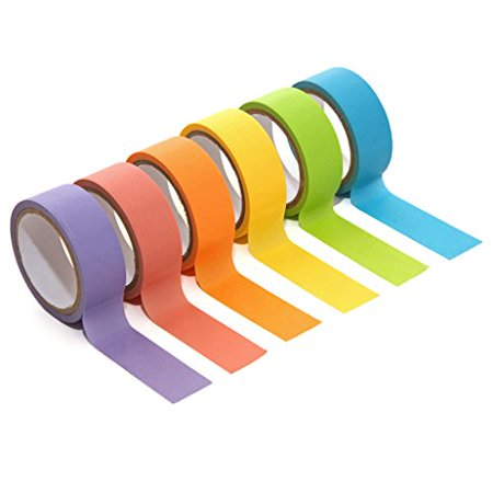 Polaroid Colorful Washi Tape Set with Full Rainbow Of Pastel Colors  6 Rolls Of Crafting Tape For Zink 2x3 Photo Paper Projects (Snap, Pop, Zip, Z2300) - Halloween Photo Project