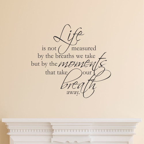 Belvedere Designs LLC Life Is Not Measured Scriptina Wall Quotes Decal