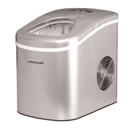 Frigidaire EFIC108 26 lb. Daily Capacity Countertop Portable Ice Maker, Silver - Manufacturer