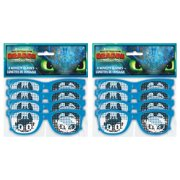 Plastic How to Train Your Dragon Novelty Glasses Party Favors, 8ct