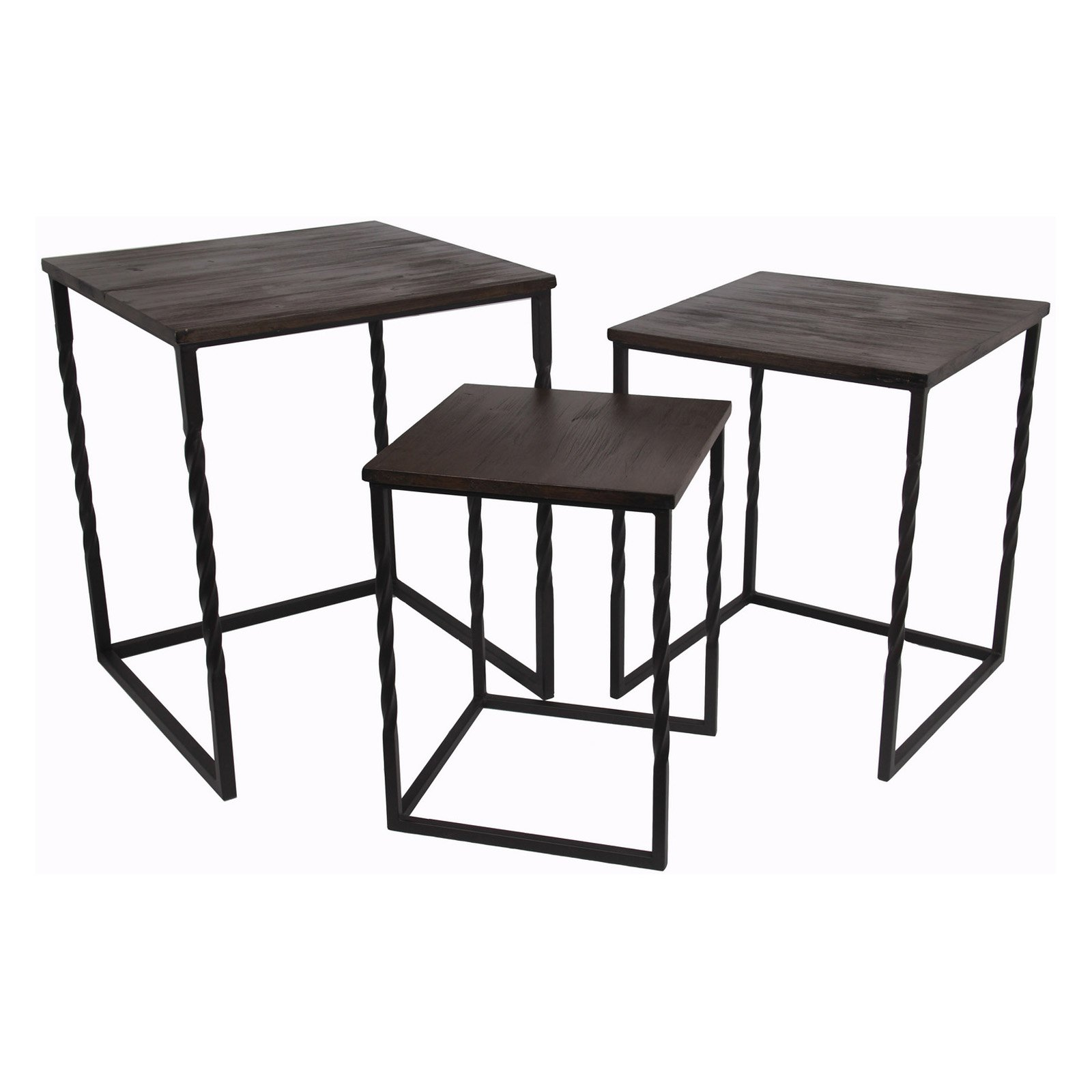 Privilege International Squared Tables - Set of 3