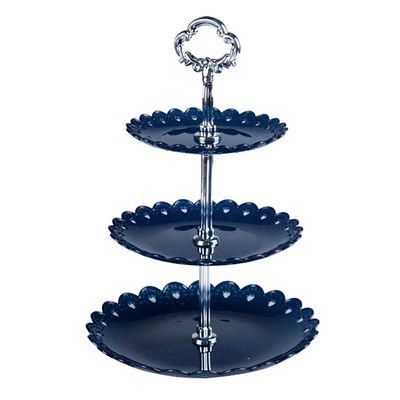 KABOER Three-Layer Cake Stand Snack Stand Living Room Fruit Plate Detachable Wedding Party Cake Decoration Frame (Snack Stand)