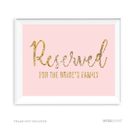 Reserved For The Bride