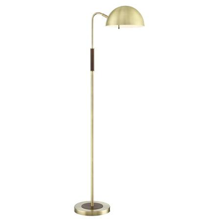 Lite Source Glass Polished Floor Lamp - Lite Source LS-83302 Clouseau Single Light 55