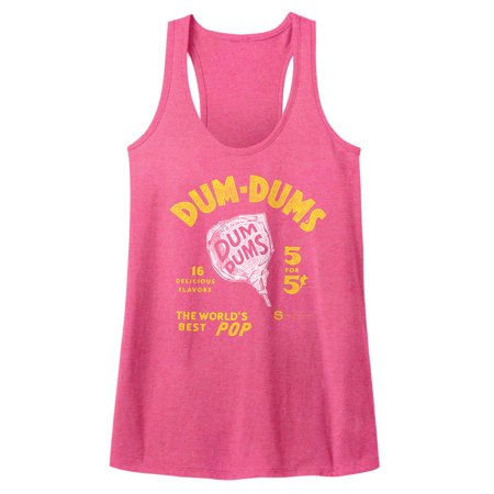 Dum Dums Sugar Candy Lollipop 5 For 5 Cents Adult Womens Tank Top Tee