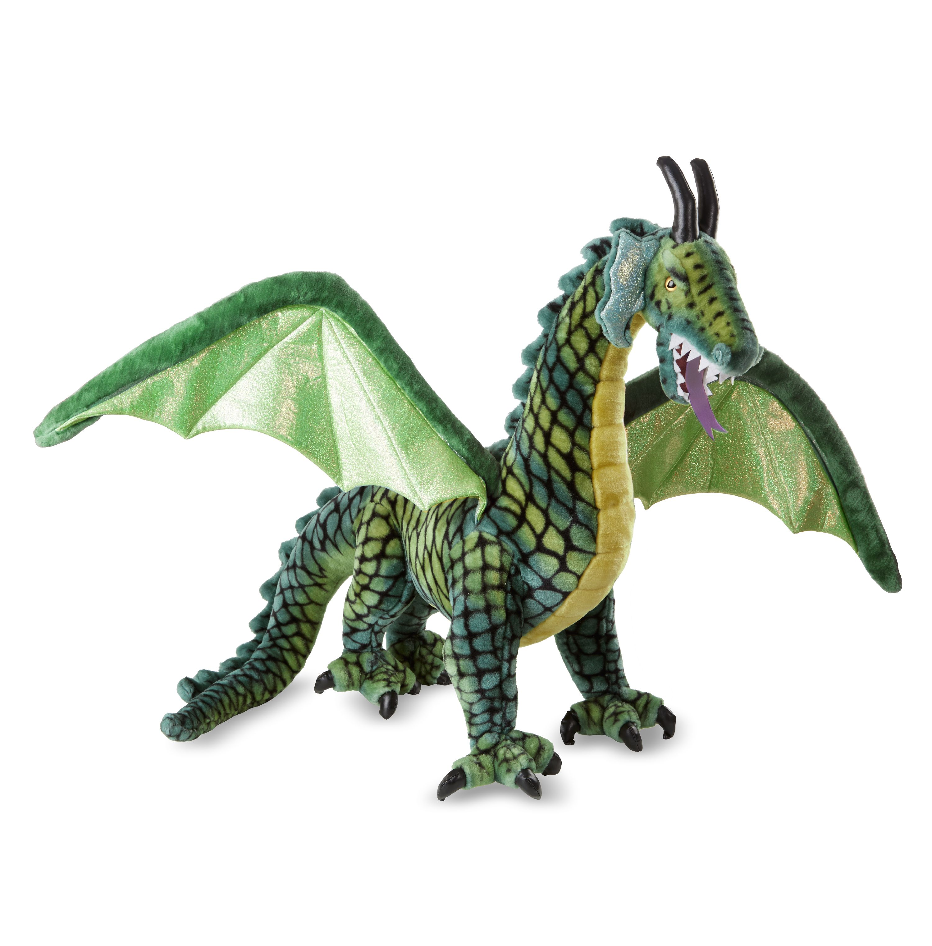 Melissa Doug Lifelike Plush Giant Winged Dragon Stuffed Animal 36
