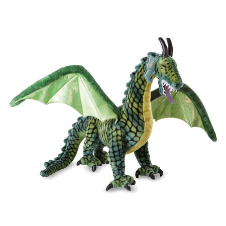 Melissa & Doug Lifelike Plush Giant Winged Dragon Stuffed Animal (36 x 40.5 x 16 in) (Plush Animals)