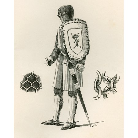 Custom Ad Plate (Examples Of Plate And Chain Armour Dating From AD 1250 From The British Army Its Origins Progress And Equipment Published 1868 Stretched Canvas - Ken Welsh  Design Pics (12)