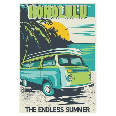 MYPOP Honolulu Summer Beach Bus Garden Flag Outdoor Banner 28 x 40 inch ()