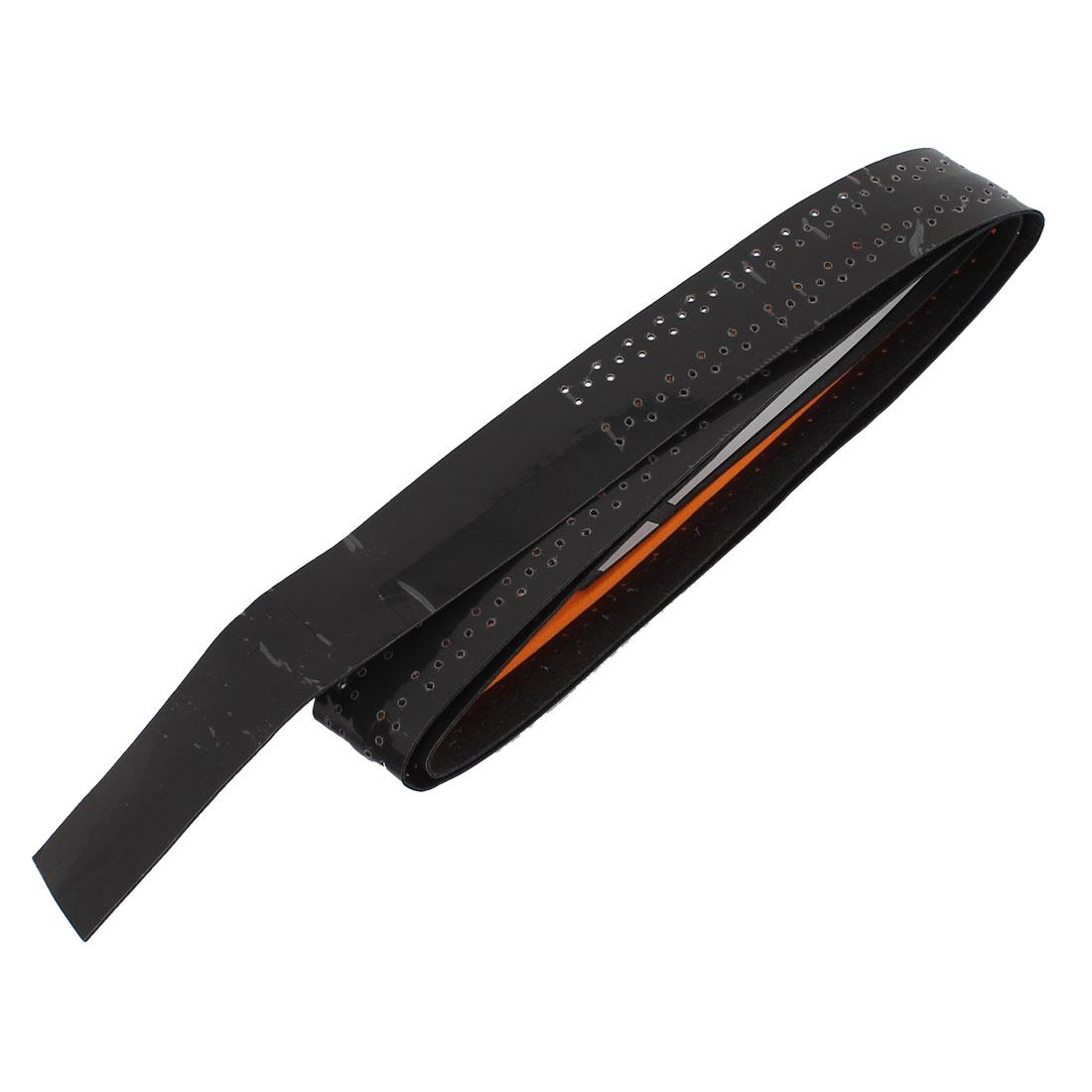 Balls Badminton Racket Nonslip Sweat Absorbing Grip Tape Black 110cm Long