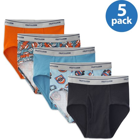 Fruit of the Loom Boys' Assorted Fashion Briefs 5 Pack