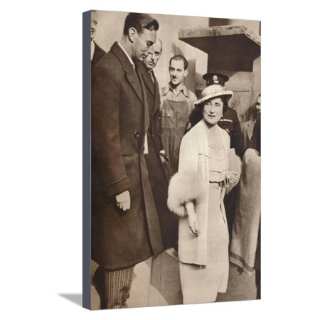 King George Vi and Queen Elizabeth Leaving a Reheasal from their Coronation, 1937 Stretched Canvas Print Wall