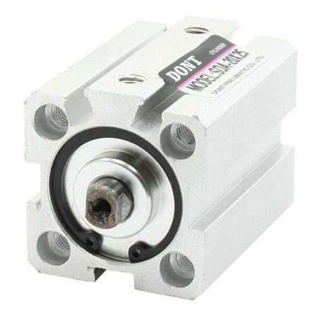 20mm Bore 25mm Stroke Double Action Pneumatic Thin Cylinder Silver Tone