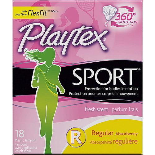 Playtex Regular Fresh Scent Sport Tampons, 18ct