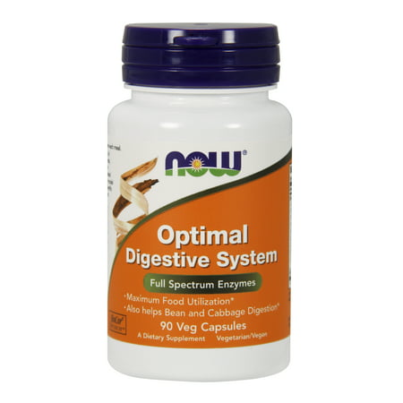 NOW Supplements, Optimal Digestive System, Full Spectrum Enzymes, 90 Veg