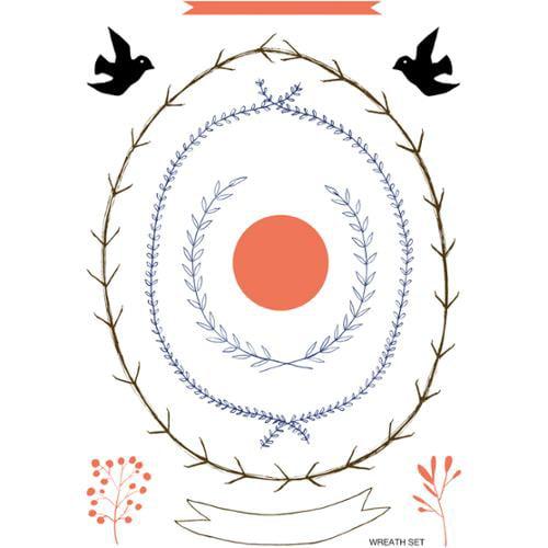 "Aha Arts Clear Stamps 4""X6"" Sheet-Wreath Set"