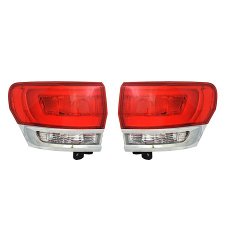 NEW OUTER TAIL LIGHT PAIR FITS JEEP GRAND CHEROKEE OVERLAND 2014-2015 CH2805106 CH2804106 68110017AE (2008 Jeep Grand Cherokee Overland For Sale)