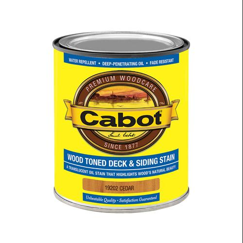 CABOT SAMUEL INC Wood Toned Deck & Siding Stain (VOC) Cedar Quart