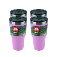 Ozark Trail 4 pack 30-Ounce Double Wall Vacuum Sealed, non skid bottom with locking lid Stainless Steel Tumbler