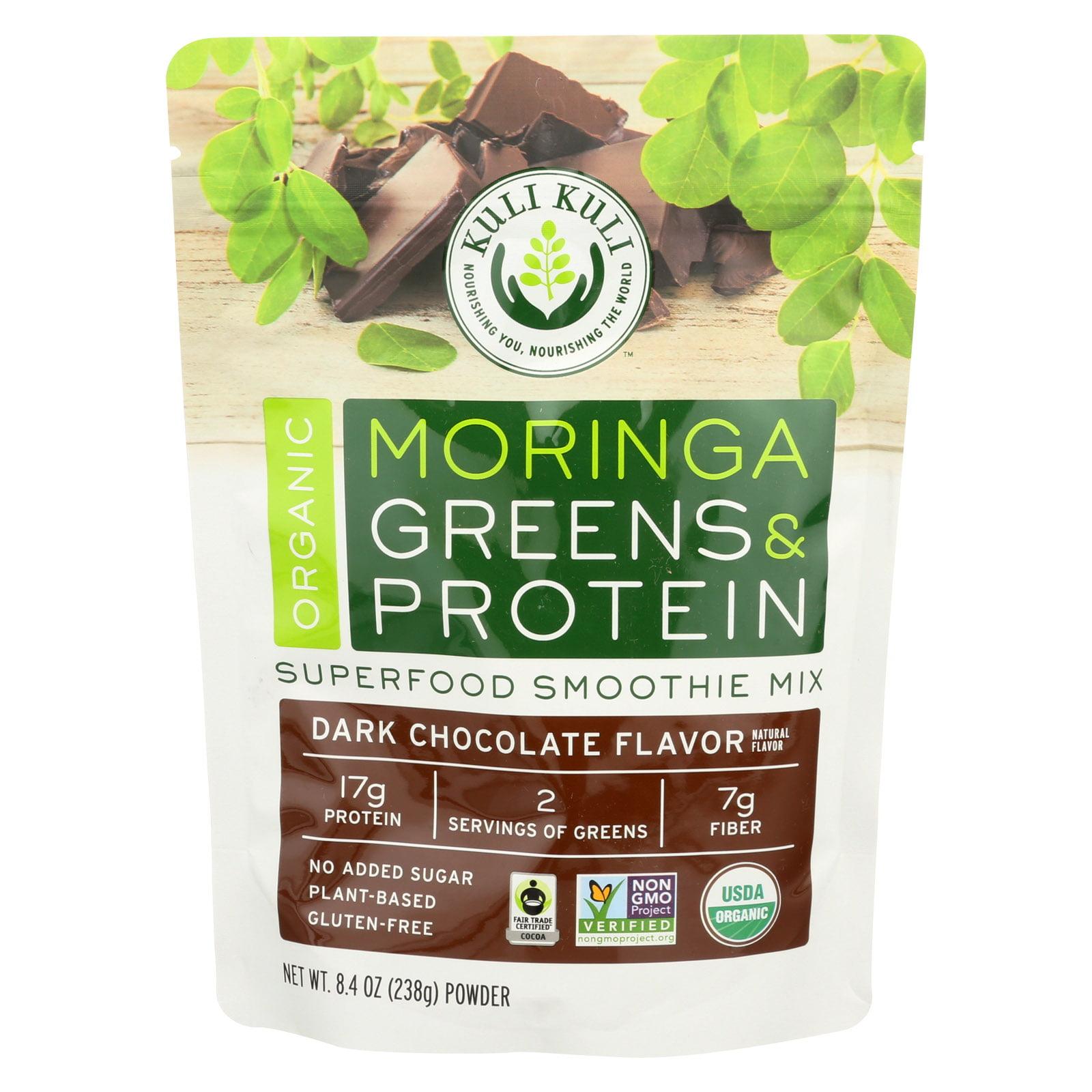 Kuli Kuli Organic Moringa Greens & Protein Powder, Chocolate, 8.4 Oz