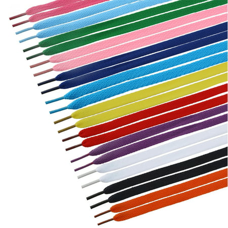- TINKSKY 12 Pairs of Flat Shoelaces Shoe Laces Strings for Sports Shoelaces / Boots / Skates / Sneakers