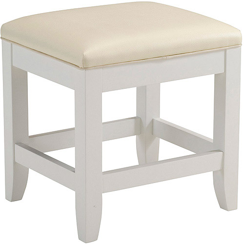 Home Styles Naples Vanity Bench, White