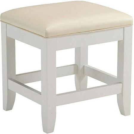 Home Styles Naples Vanity Bench White
