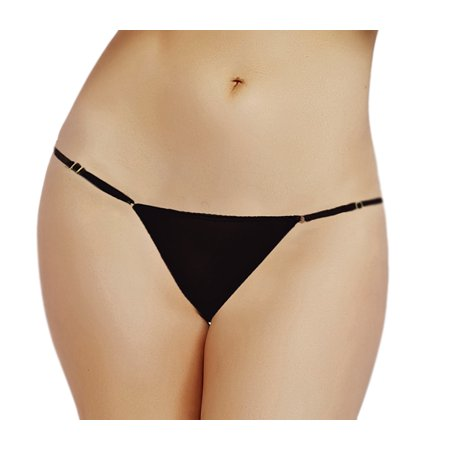 - Lacy Line Sexy Mesh Thong With Adjustable Sides