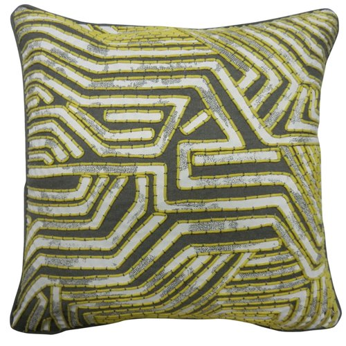 Bloomsbury Market Overholt Maze Design Cotton Pillow Cover