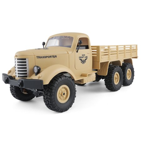 JJRC Q60 1:16 2.4G 2CH 6WD Remote Control Tracked Off-Road Military Truck RC Car RTR  Brush motor Birthday Gifts - image 4 de 12