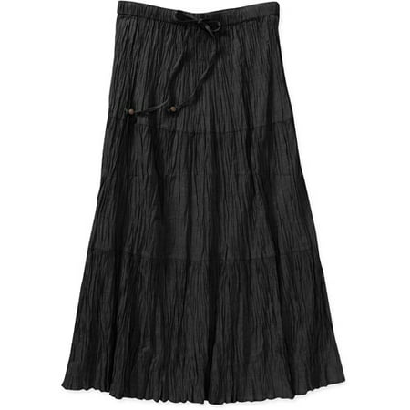 5db493c276b White Stag - Womens Plus-Size Crinkle Broomstick Skirt - Walmart.com