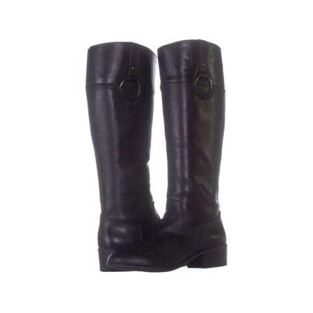 7edbf3e9bd50 Alfani Womens Briaah Leather Round Toe Knee High Fashion Boots - image 2 of  2 ...
