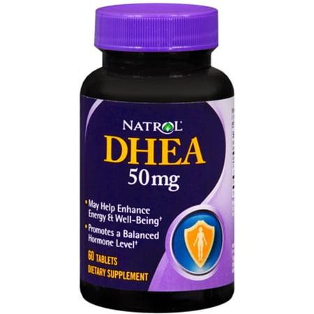 Natrol DHEA 50 mg comprimés 60 comprimés (Paquet de 4)