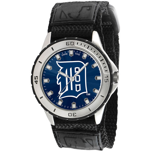 Game Time MLB Men's Detroit Tigers Veteran Series Watch, Black Velcro Strap