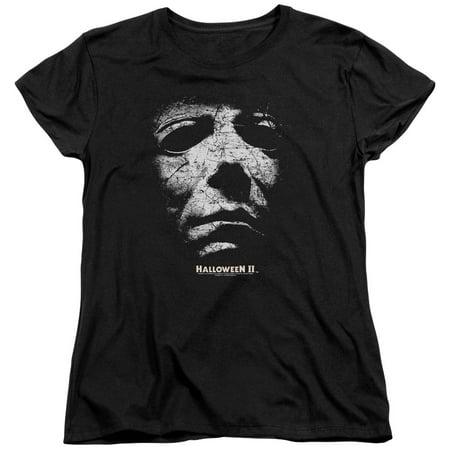 Halloween II Horror Slasher Movie Series Mask Women's T-Shirt Tee - Women's Halloween T Shirts