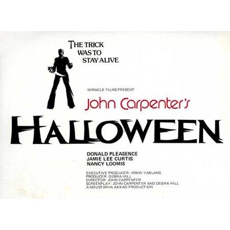 Halloween POSTER Movie E Mini Promo - Halloween 2 Online 1981