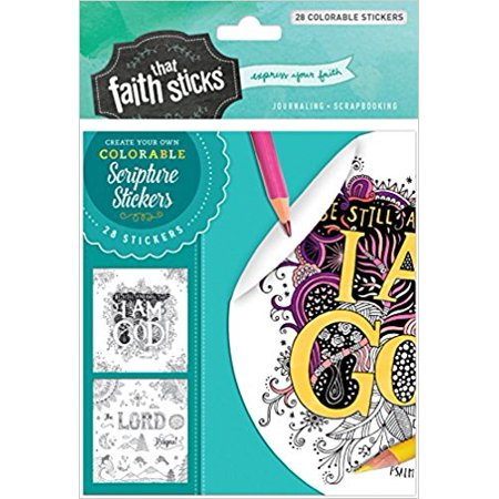 Christian Faith Stickers - Sticker-Psalm 46:10 Colorable Stickers (Faith That Sticks)