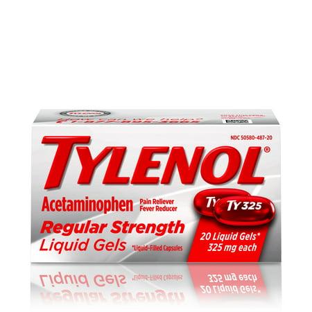 Orajel Maximum Strength Liquid - Tylenol Regular Strength Liquid Gels with 325 mg Acetaminophen, 20 ct