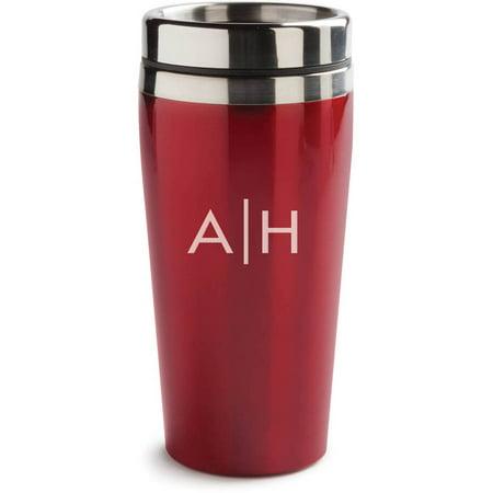 My Initials Personalized 16 Oz. Red Travel Mug - Personalized Photo Travel Mugs