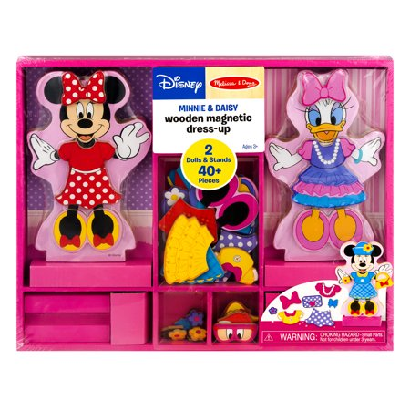 Melissa & Doug Disney Minnie Mouse and Daisy Duck Magnetic Dress-Up Wooden Doll Pretend Play Set (45+ pcs) for $<!---->