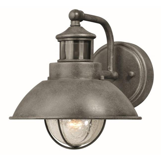 Vaxcel International T0262 10 in. Harwich Dualux Outdoor Wall Light, Textured Black