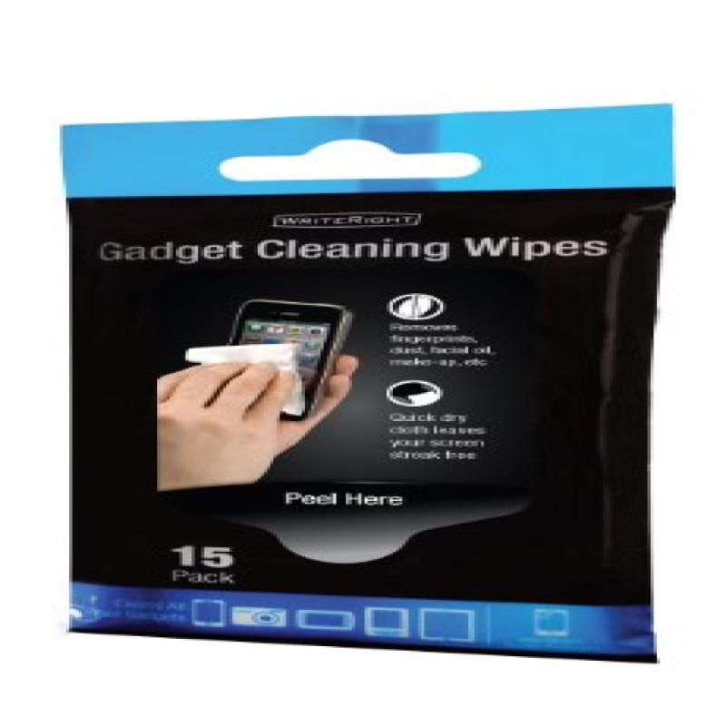 WriteRight Gadget Cleaning Wipes, 15pk
